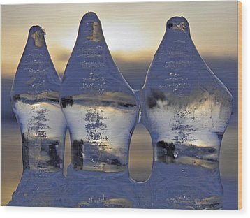 Ice Trio Wood Print by Sami Tiainen
