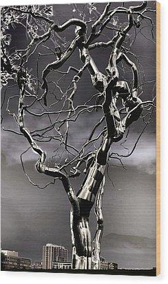 Ice Veins In The Sky Wood Print by Joenne Hartley