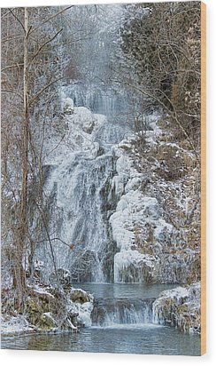 Ice Water Wood Print by Kathy Jennings