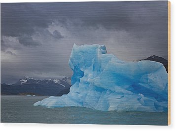 Iceberg Ahead Wood Print by Kim Andelkovic
