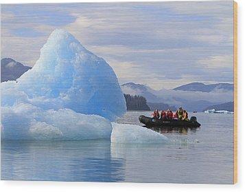Iceberg Ahead Wood Print