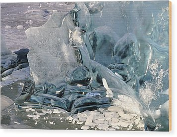 Iceberg Detail - Mendenhall Lake Wood Print