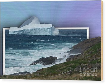 Iceberg Escape Wood Print by Barbara Griffin
