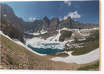 Wood Print featuring the photograph Iceberg Lake by Aaron Aldrich