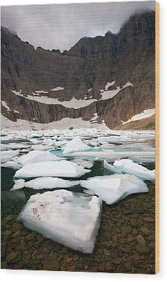 Wood Print featuring the photograph Iceberg Lake by Aaron Whittemore