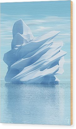 Iceberg Wood Print by Matt Lindley