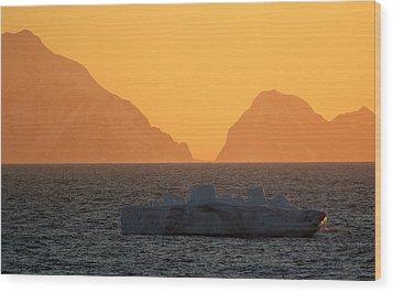 Iceberg Ship Wood Print by DerekTXFactor Creative