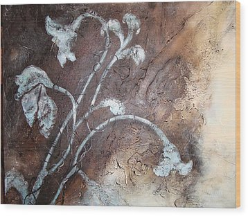 Iced Lilies Wood Print by Tamara Bettencourt