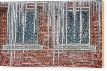 Iced Over Wood Print by Steve Ohlsen