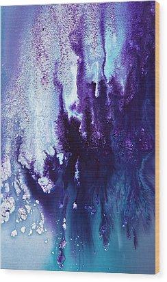 Icefall Abstract Art Photography By Serg Wiaderny Wood Print by Serg Wiaderny