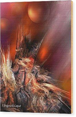 Icefire Wood Print by Francoise Dugourd-Caput