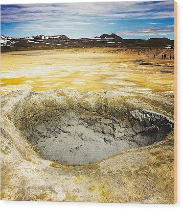 Iceland Geothermal Area Hverir Namaskard Wood Print