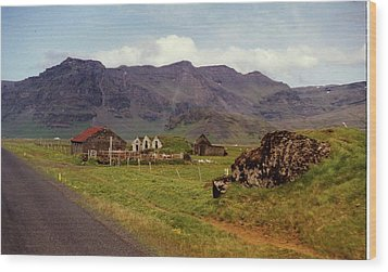 Wood Print featuring the photograph Icelandic  Cottage by Debra Kaye McKrill