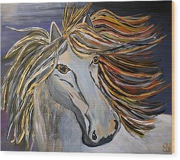 Icelandic Horse Wood Print by Becki Nation