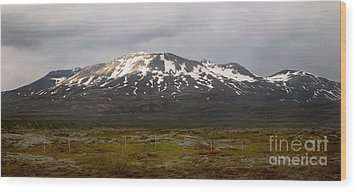 Icelandic Landscaope Wood Print by Louise Fahy