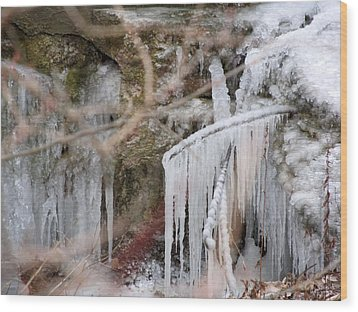 Icicle Creek Wood Print