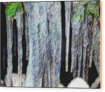 Icicles  Wood Print by Daniel Janda