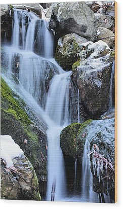 Icicles  Wood Print by JC Findley