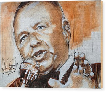 Icon Frank Sinatra Wood Print by Gregory DeGroat