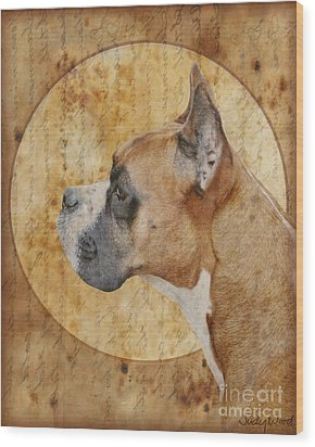 Icon Wood Print by Judy Wood