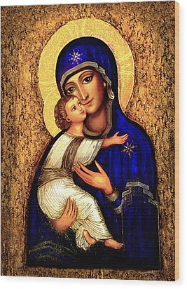 Icon Madonna Wood Print by Ananda Vdovic