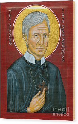 Icon Of The Blessed John Henry Newman Wood Print by Juliet Venter