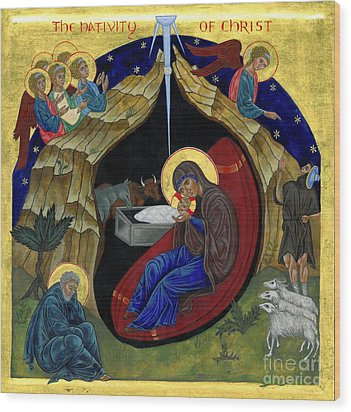 Icon Of The Nativity Wood Print by Juliet Venter