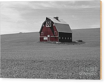 Wood Print featuring the photograph Icon Of The Palouse by Sharon Elliott