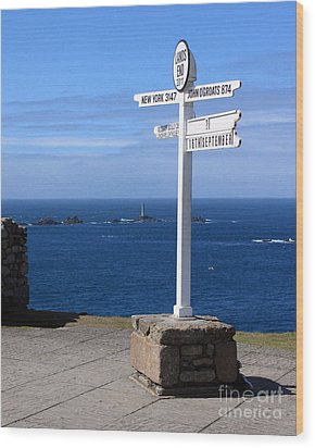 Wood Print featuring the photograph Iconic Lands End England by Terri Waters