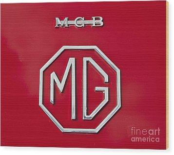 Iconic Mgb Badge Wood Print