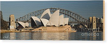 Icons One And Two - Sydney Australia. Wood Print by Geoff Childs