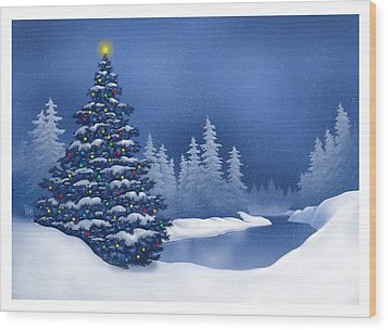 Icy Blue Wood Print by Scott Ross