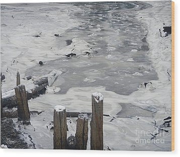 Wood Print featuring the photograph Icy Entrance  by Laura  Wong-Rose