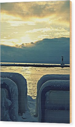 Icy Path Wood Print by Dawdy Imagery