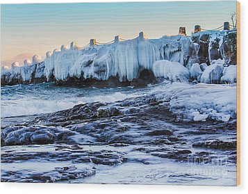 Icy Shores Wood Print