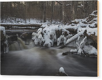 Icy Waters Wood Print by Andrew Pacheco