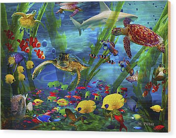 I'd Like To Be Under The Sea...... Wood Print