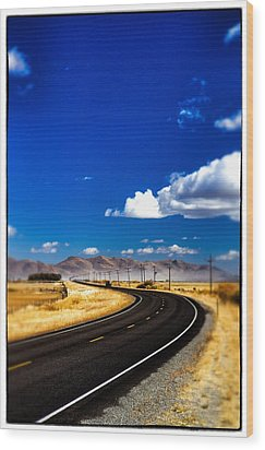 Idaho Road Titl Shift Wood Print by For Ninety One Days