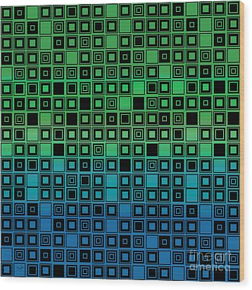 Identical Cells Wood Print by Bedros Awak