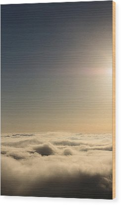 Idyllwild Clouds Wood Print by Denice Breaux