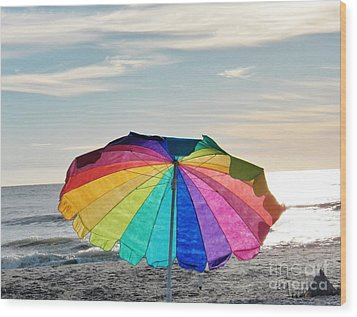 If Life Were Just A Rainbow All The Time Wood Print