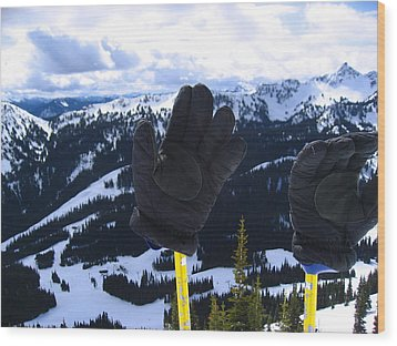 If The Glove Fits Wood Print by Kym Backland