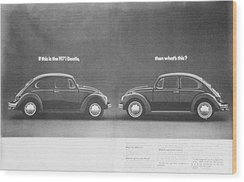 If This Is The 1971 Beetle.............. Wood Print by Georgia Fowler