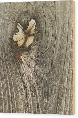 Wood Print featuring the photograph If Wooden Angels Could Fly by Marie Neder