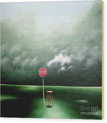 Wood Print featuring the painting If You Were Waiting For A Sign This Is It by Ric Nagualero