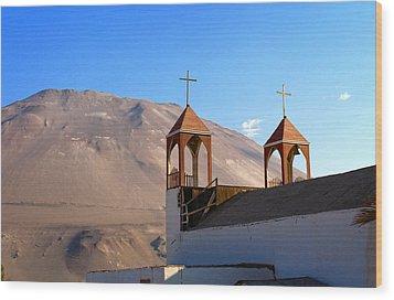 Iglesia De San Geronimo Poconchile Chile Wood Print by Kurt Van Wagner
