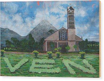 Iglesia La Fortuna  Costa Rica Wood Print