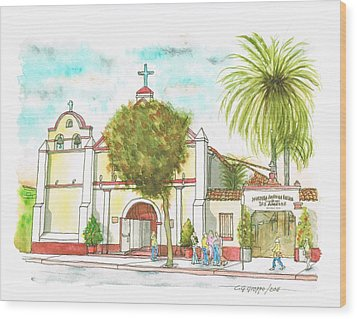Iglesia Nuestra Senora De Los Angeles - Los-angeles - California Wood Print