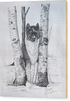 Ihasa In The Woods Wood Print