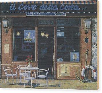 Il Covo Della Costa Wood Print by Guido Borelli